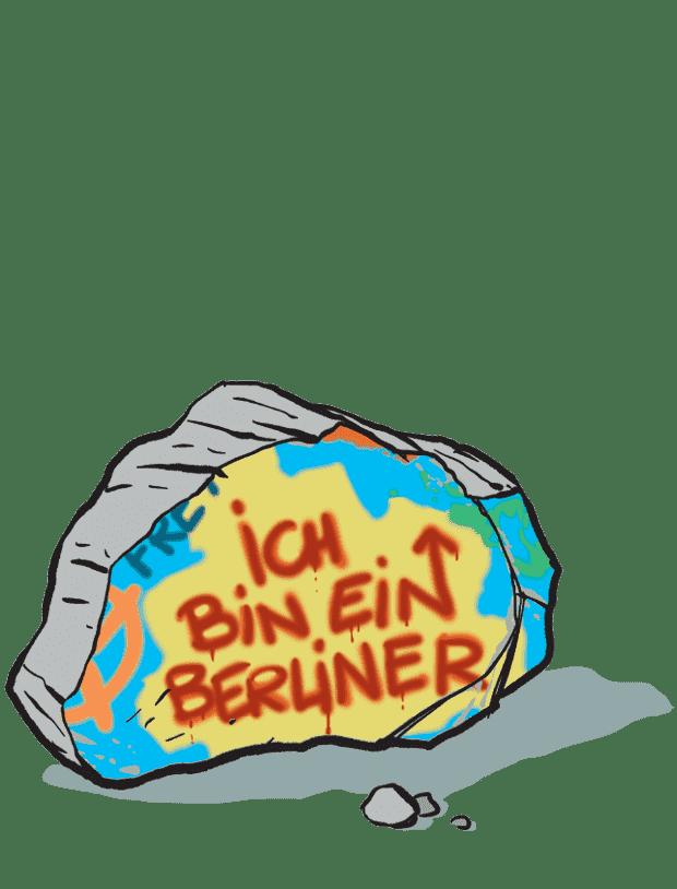 Carte Le mur de Berlin